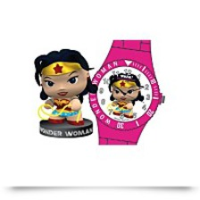 Harley Wonder Woman Whak Watch And Figurine