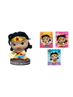 Wonder Woman Figurine And Puff Sticker